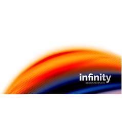 3d fluid colors wave background flowing vector