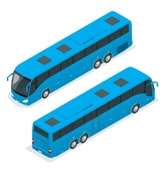 3D isometric bus Tourist bus Global vector image