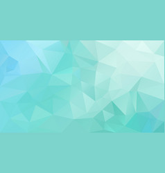 Abstract irregular polygon background mint green vector
