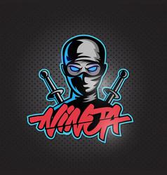 Assassin ninja esports mascot logo vector