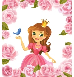 beautiful princess vector image
