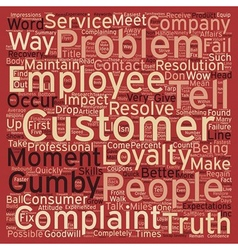Better Ways to Handle Complaints text background vector image