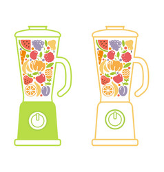 blender smoothie symbol vector image