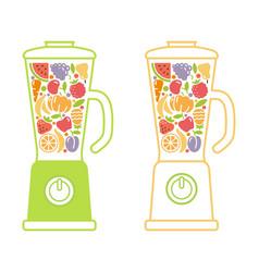 Blender smoothie symbol vector