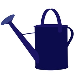 Blue watering can vector image