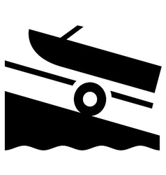Boat Launch Symbol vector image