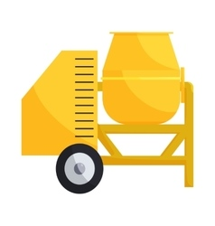 Building mixer for concrete icon cartoon style vector image