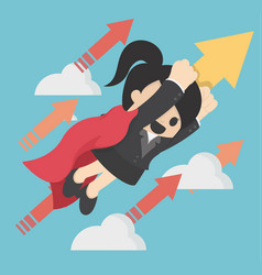 business concept super woman launching on vector image