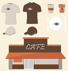 Cafe design vector image