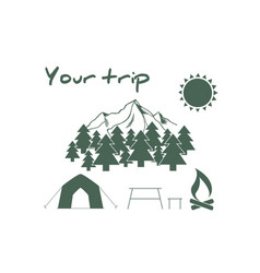 Camping and outdoor adventure logo vector