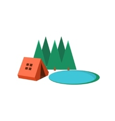 Camping in Forest vector image