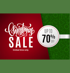 christmas holiday sale 70 percent off vector image