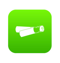 cigarette butt icon digital green vector image