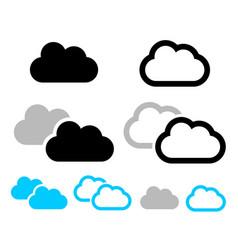 cloud symbols vector image
