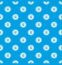 Coins cruzeiro pattern seamless blue vector