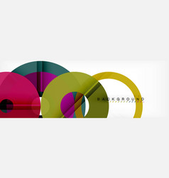 colorful rings on grey background modern vector image