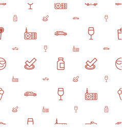 Cool icons pattern seamless white background vector