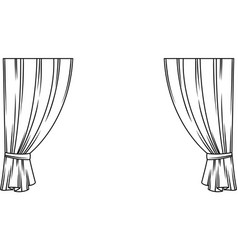 Curtains of theater stage template for theatrical vector