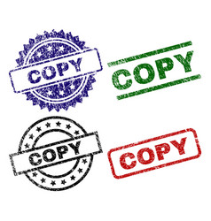 damaged textured copy seal stamps vector image
