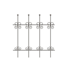 decorative iron fence for park or garden vector image