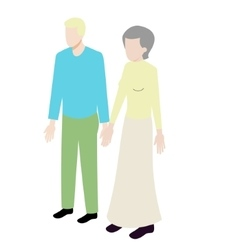 Different ages isometric couple vector image