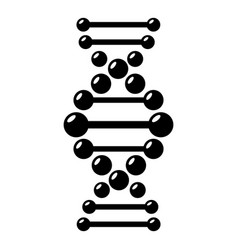 Dna icon simple black style vector