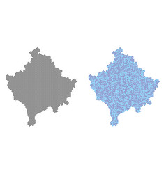 Dot kosovo map abstractions vector