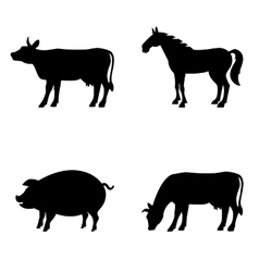 Farm animals set Livestock vector