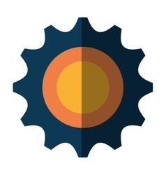 Gears cog or wheel isolated icon vector