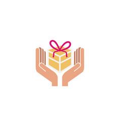 gift love logo vector image