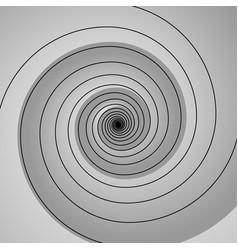 grey spiral swirl vector image