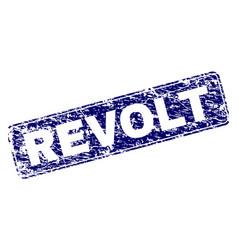 Grunge revolt framed rounded rectangle stamp vector