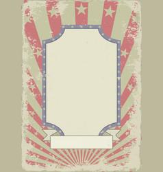 grunge vintage background with banner vector image