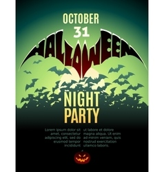 Halloween party Design template vector