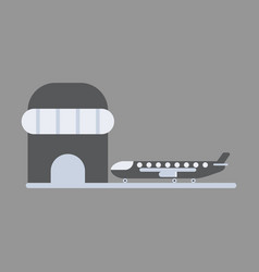 Icon in flat design plane at airport vector