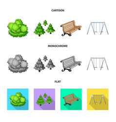 isolated object of urban and street logo set of vector image