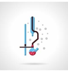 Laboratory distilling flat design icon vector