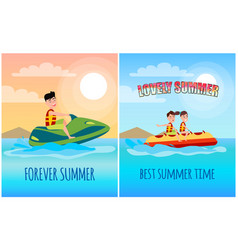 Lovely summer collection vector