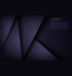 luxurious dark purple with overlap layer vector image
