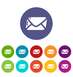 mail icons set color vector image
