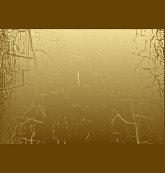 marble texture with cracked golden foil vector image