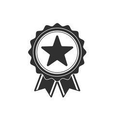 medal black icon vector image