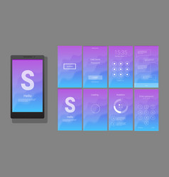 modern ui gui screen design vector image