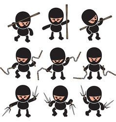 Ninja Cartoon design vector