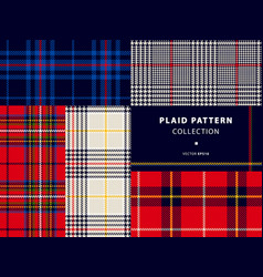 Plaid pattern collection vector