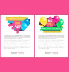 Premium quality total sale price promo sticker set vector