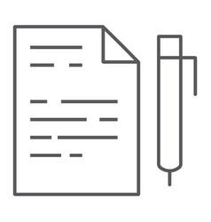 quiz thin line icon school and education exam vector image