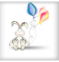 rabbit with balloons vector image