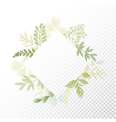 Rhombys greenery floral frame vector