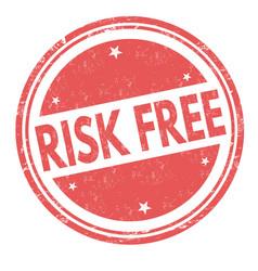 risk free grunge rubber stamp vector image